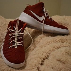 Nike Red and White Hyper Fresh Shoes
